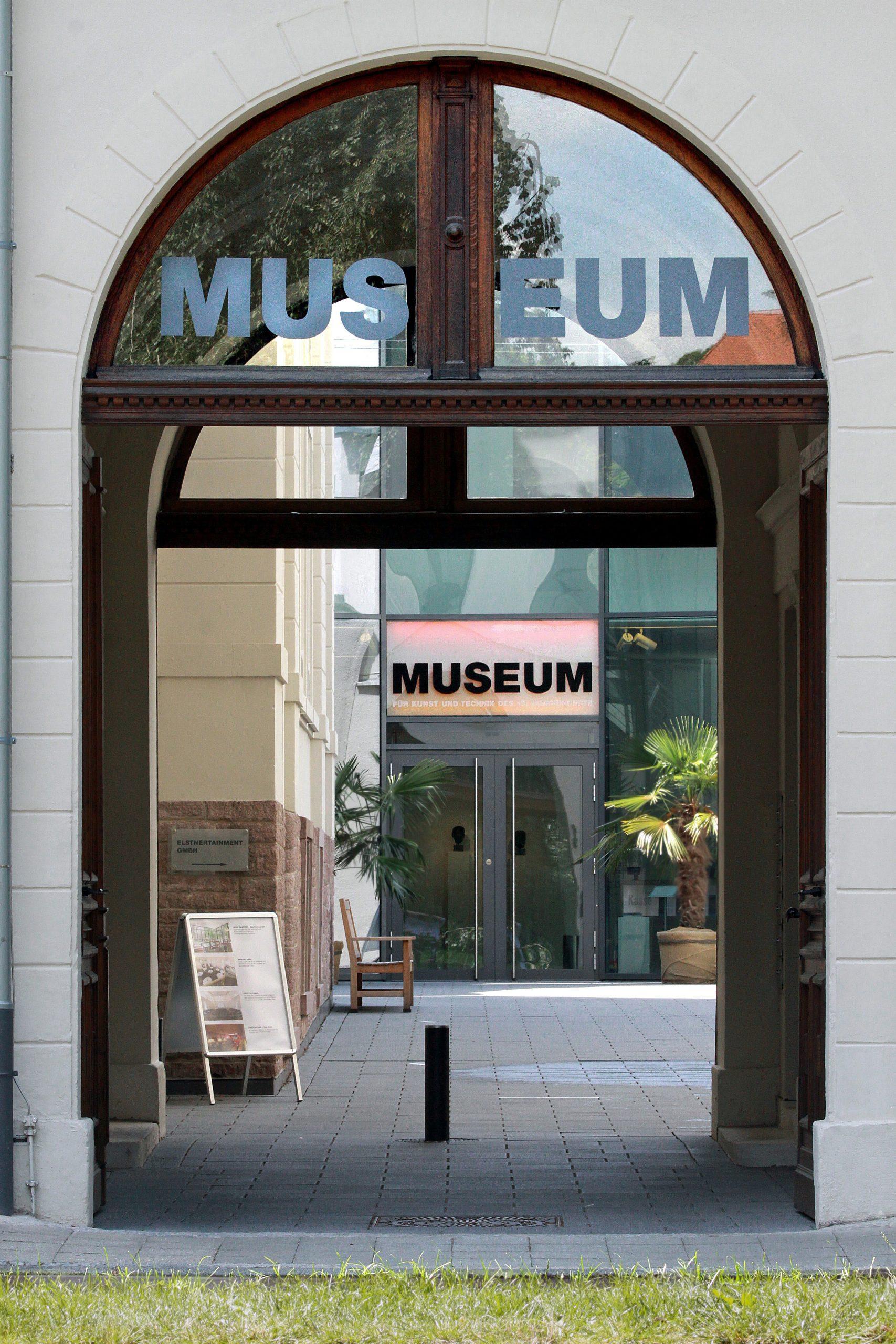 Hofeinfahrt Zum Museum Für Kunst Und Tech Nik Des 19. Jahrhunderts, Baden Baden. Foto: Thomas Viering